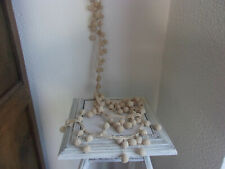 rideau  ancien crochet 1920 /embrase rideau en crochet grosse boule années 20
