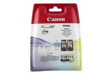 Kit inchiostro nero + colore ORIGINALE Canon 2970B010 PG-510 + CL-511 per MX 410