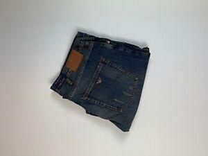 New Men's Armani Jeans J45 Slim Fit Indigo Vintage Wash Jeans