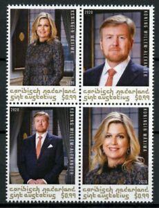 St Eustatius Caribbean Netherlands Stamps 2020 MNH King Willem-Alexander 4v Blck