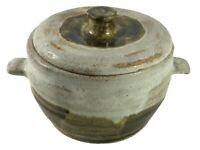 Vintage Handmade Stoneware Studio Pottery Pot - Signed Base Y A W <HM06 (T22)
