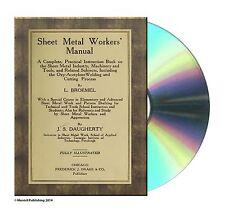 SHEET METAL WORKERS' MANUAL By L. BROEMEL (1918) Book On CD