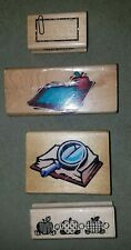 Teacher's Wooden Rubber Mounted Stamps Lot of 4 – For Teachers Note