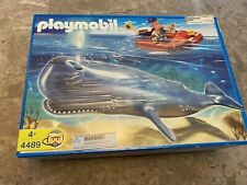 Playmobil 4489 Whale Researcher Boat & Sperm Whale Complete Lot Very Rare Set