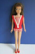 Vintage Brunette Straight Leg Skipper Doll with Original Swimsuit & Shoes