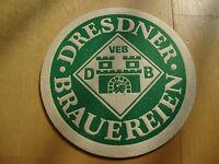 Bierdeckel DDR VEB Dresdner Brauereien