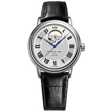 Raymond Weil Maestro Silver Dial Black Leather Men's Watch  2827-STC-65001