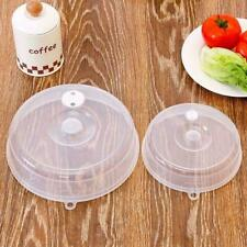 Kitchen Microwave Food Cover Plate Vented Splatter Clear Plastic Protector F6D7