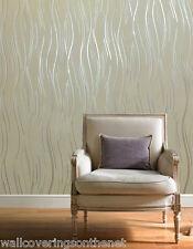 NEW Beige, Brown and Silver With Glitter, Modern Design, Blown Vinyl Wallpaper