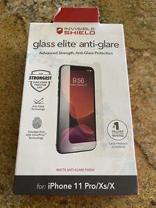 Zagg iPhone11Pro/ X / XS invisibleShield Glass Elite Anti-Glare Screen Protector