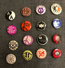 vintage 1960s Political CND YCL Ban The Bomb Peace Nuclear Badges 16 Original