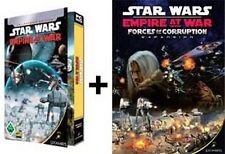 Star Wars Empire at War + forces of corruption Gold dans hardcasehülle guterzust.
