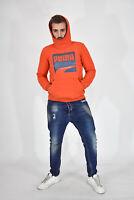 PUMA Felpa Hoodies Sweatshirt Arancione In Cotone Cotton TG XXL Uomo Man