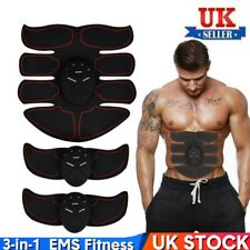 ABS Abdominal Belt 3in1 Muscle Stimulator Hip Muscular Trainer Toner Gym Fitness