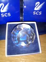RARE RETIRED SWAROVSKI CRYSTAL SCS BLUE SWAN PAPERWEIGHT Mint  Boxed