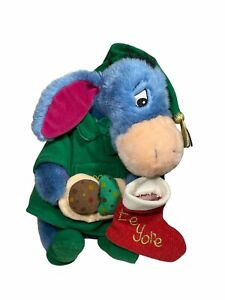 2000 Pooh Eeyore Disney Store Cookies Christmas Stuffed Plush Stocking Vintage