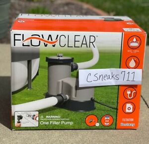 Bestway 58390E Flowclear 1500 GPH Filter Pump for Above Ground Swimming Pool