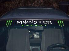 1 x Monster E. Aufkleber für Windschutzscheibe - Frontscheibe 12,5 x 70,5cm  GG
