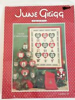 June Grigg I LOVE CHRISTMAS Leaflet 21 & Cutout Hearts NOS Sealed Cross Stitch
