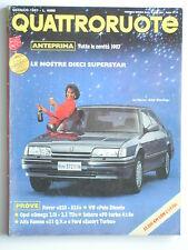 QUATTRORUOTE //  GENNAIO 1987  N. 375  ROVER 820 STERLING