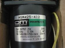 Oriental Motor MSM425-412 Speed Control Motor,