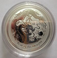 2012 australien perth mint lunaire année du DRAGON 1oz.999 silver bullion coin