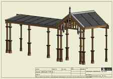TRADITIONAL TIMBER VERANDAH - FULL BUILDING PLANS 2D & 3D