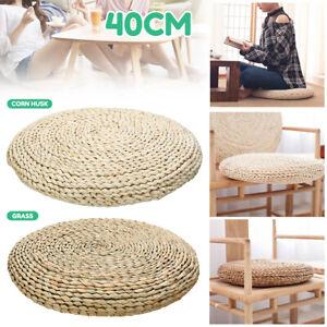 Natural Weave Yoga Cushion Pad Meditation Mat Pillow Floor Seat Tatami 40cm