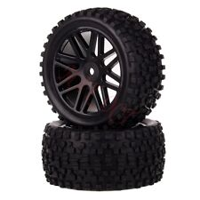 2x 1/10 HSP Off-road Buggy 06102 Rear Wheel Rim Tyre,Tires Insert Sponge 66035