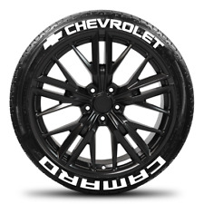 Chevrolet Camaro w/ Bow Tie- Permanent Tire Stickers - 1.50in - 16in-18in 8 Pack