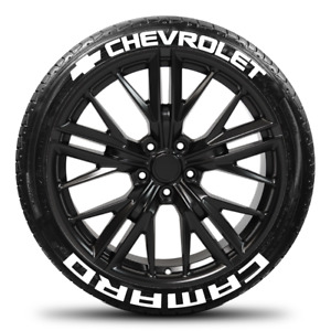 Chevrolet Camaro w/ Bow Tie- Permanent Tire Stickers - 1.25in - 19in-21in 8 Pack