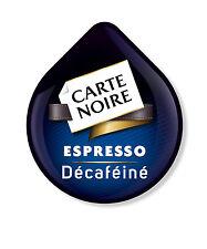80 x tassimo carte noire expresso décaféiné café t-disques, vendu en vrac déca
