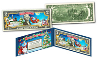 MERRY CHRISTMAS * SANTA CLAUS * XMAS OFFICIAL Genuine Legal Tender U.S. $2 Bill