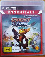 PS3 Game Ratchet & Clank Tools Of Destruction Manual Include EXCELLENT CONDITION