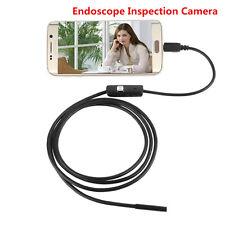 OTG 7mm USB Endoscope Inspection Camera Borescope 2m Waterproof 6 LED Android