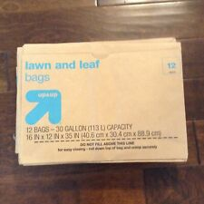 Lawn & Leaf Paper Trash Bags - 30 Gallon - 8 ct - Up&Up™
