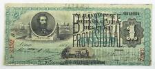 Peru 1881 Inca Billete Provisional 1 Real Overprint Banknote