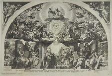 RAPHAEL SADELER CORNELIS CORT KUPFERSTICH 1580 MARIÄ VERKÜNDIGUNG ANNUNCIATION