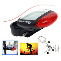 Waterproof Solar Power LED Bicycle Rear Lamp Tail Safety Warning Light Flashing