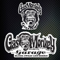 lot 2 stickers autocollant Gas Monkey Garage decal Gaz Monkey