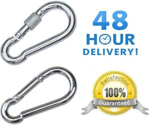 CARABINER CLIP ~ Choose: BASIC, or SCREW LOCK ~ Large & Small ~ HEAVY DUTY!