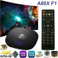 A95X F1 Android 8.1 Smart TV BOX S905W Quad Core H.265 WiFi 4K 3D Media 2GB+16GB