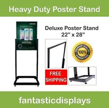 """Heavy Duty Poster Stand Sign Holder Bulletin Display 22"""" x 28"""" Deluxe Retail"""