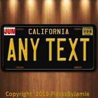 California Any TEXT MONTH YEAR Personalized Custom Aluminum License Plate Tag T
