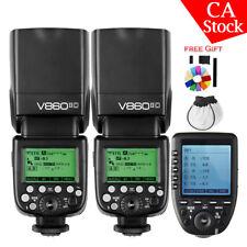 US 2X Godox V860II-C 2.4G TTL Camera Flash Xpro-c Trigger Set For Canon 80D 800D