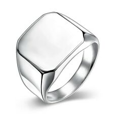 Men Rings Charm Gift 18k White Gold Filled Fashion Jewelry size 10