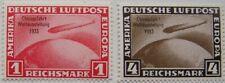 Deutsches Reich - 2x Luchtpost Graf Zeppelin, Chicagofahrt postfris (nadruk)
