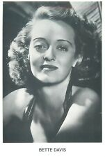 American actress of film, television, and theater Bette Davis Mayfair postcard