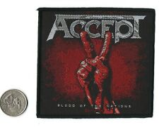 """Accept Blood Of The Nations  Metal Band  Sew On Woven Patch 3 7/8 """"X 3 7/8"""""""