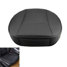 Universal Car Deluxe Front Seat Cover PU Leather Pad Cushion Protector Black New
